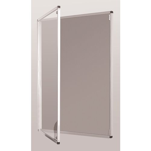 Standard Tamperproof Noticeboard Silver/Grey Aluminium/Plastic/Fabric HxW mm: 900x900