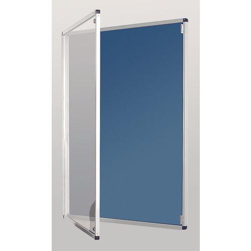 Standard Tamperproof Noticeboard Silver/Light Blue Aluminium/Plastic/Fabric HxW mm: 1200x1200