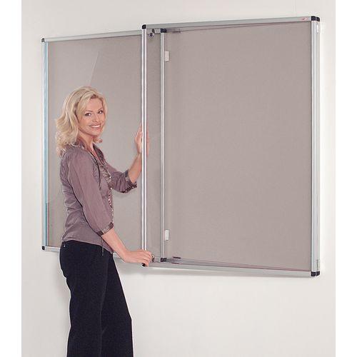 Standard Tamperproof Noticeboard Silver/Grey Aluminium/Plastic/Fabric HxW mm: 1200x1800