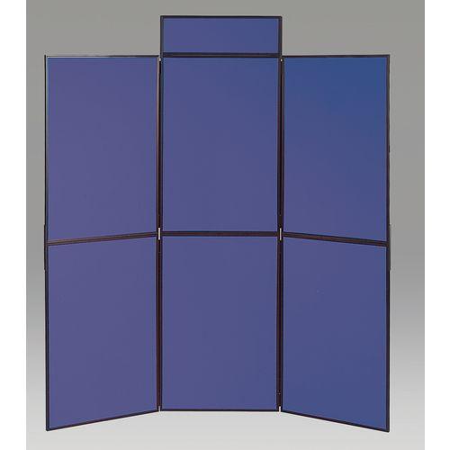Aluminium Frame Folding Display Including Carrier Bag Black &Blue Plastic &Aluminium 6 Panel