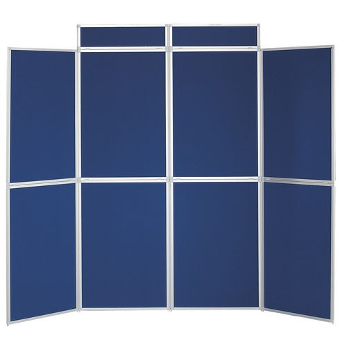 Aluminium Frame Folding Display Including Carrier Bag Black &Blue Plastic &Aluminium 8 Panel