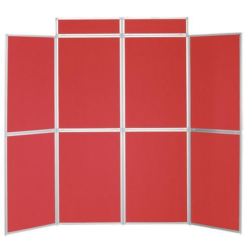 Aluminium Frame Folding Display Including Carrier Bag Black &Red Plastic &Aluminium 8 Panel
