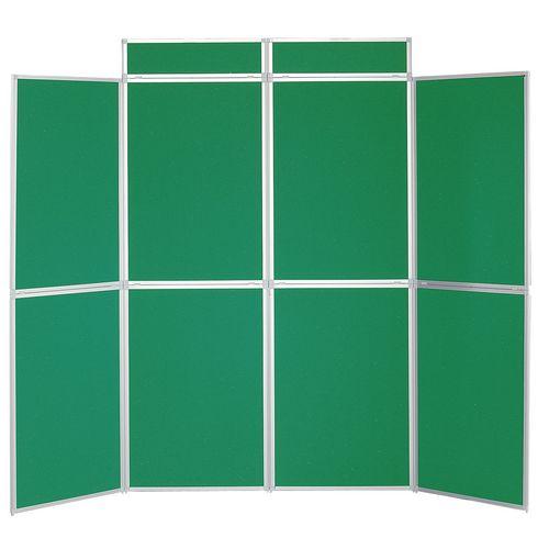 Aluminium Frame Folding Display Including Carrier Bag Black &Green Plastic &Aluminium 8 Panel