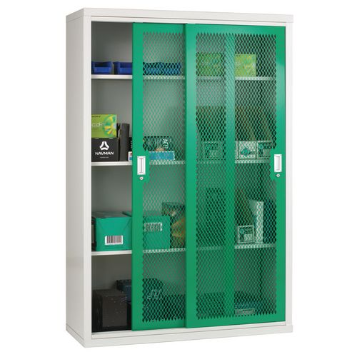 Sliding Door Mesh Cabinet 1830x1220x460 Green