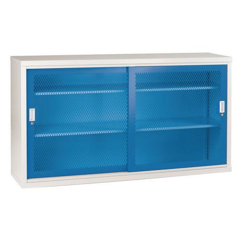 Sliding Door Mesh Cabinet 1020x1830x460 Blue