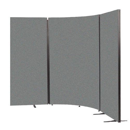 Curved Busyscreens Dark Grey Hxwxd: 1225x30x1131