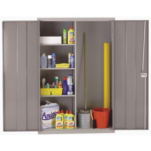 Cupboard Large Utility Light Grey Body/Light Grey Doors