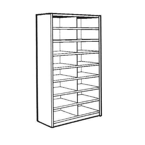 Stormor Bin Unit 16-Compartment 1850X900X450