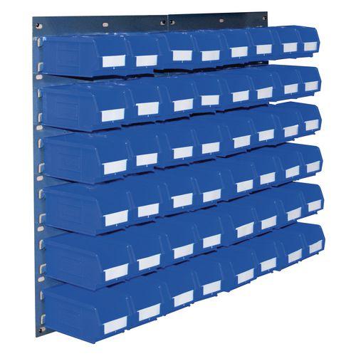 2 Tp10 Wall Mounted Panels C/W 48 Tc2 Blue Bins