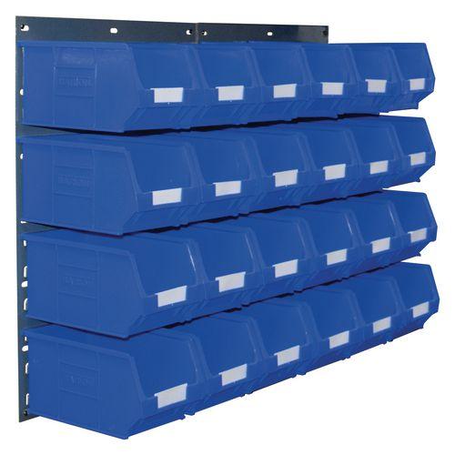 2 Tp10 Wall Mounted Panels C/W 24 Tc3 Blue Bins