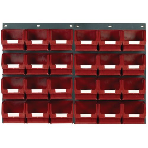 2 Tp10 Wall Mounted Panels C/W 24 Tc3 Red Bins