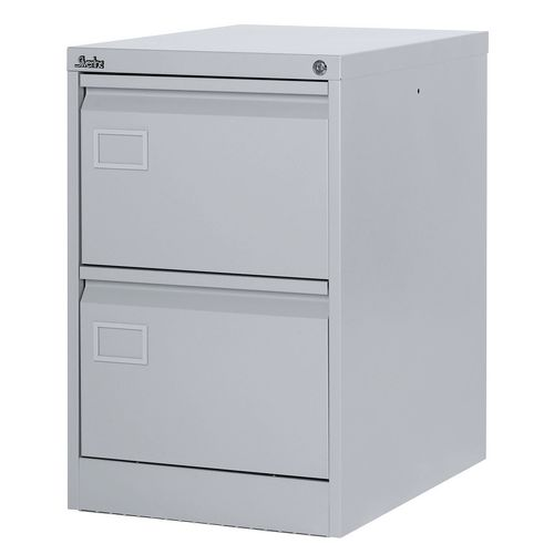 Filing Cabinet Exec Light Grey Steel HxWxD: 711x458x622mm