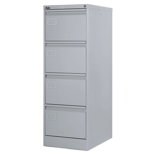 Filing Cabinet Exec Light Grey Steel HxWxD: 1320x458x622mm