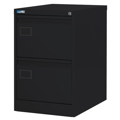 Filing Cabinet Exec Black Steel HxWxD: 711x458x622mm