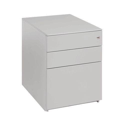 Desk High Ped (2+1) 690H 420W 600D Silver Ral 9006