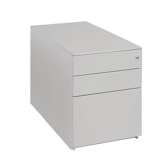 Desk High Ped (2+1) 690H 420W 800D Silver Ral 9006