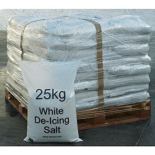 White De-icing Salt 40 x 25kg Bags