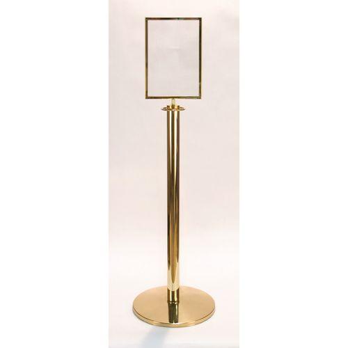 Standard Polished Brass Sign Holder A4  Portrait