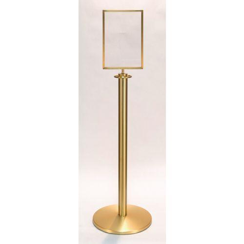 Standard Satin Brass Sign Holder A4  Portrait