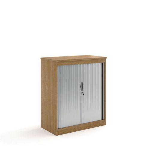 System Horizontal Tambour Door Cupboard Oak  HxWxD: 1200x1020x550