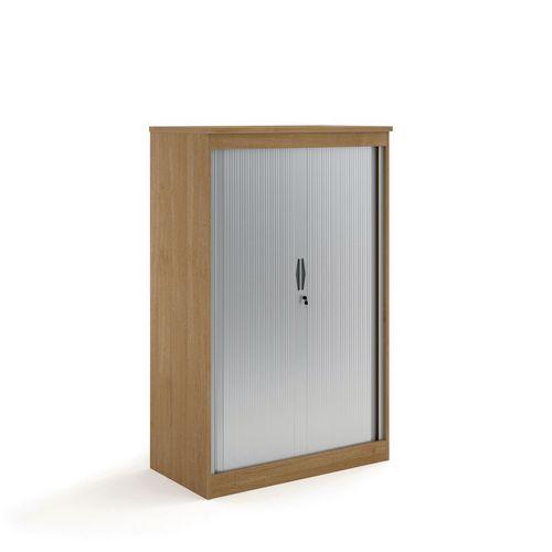 System Horizontal Tambour Door Cupboard Oak  HxWxD: 1600x550x550