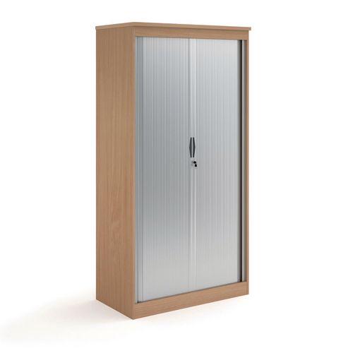 System Horizontal Tambour Door Cupboard Beech  HxWxD: 2000x1020x550
