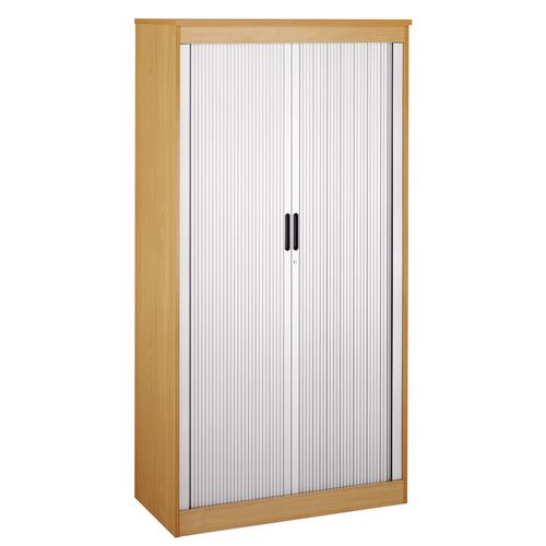 System Horizontal Tambour Door Cupboard Oak  HxWxD: 2000x1020x550