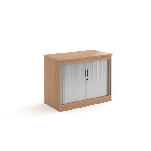 System Horizontal Tambour Door Cupboard Beech  HxWxD: 800x1020x550