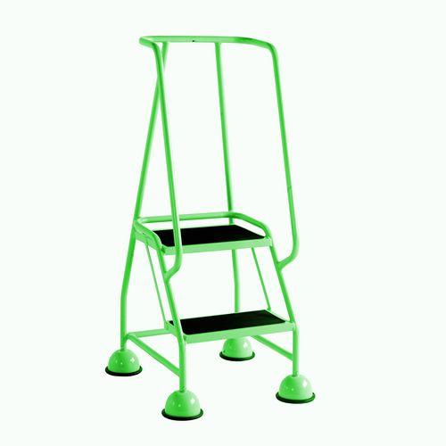 2 Tread Spring Loaded Step Full Handrail Anti-Slip Treads Green