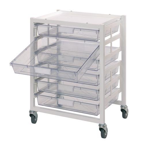 Metal Ew 6 Clear Tray Storage Unit