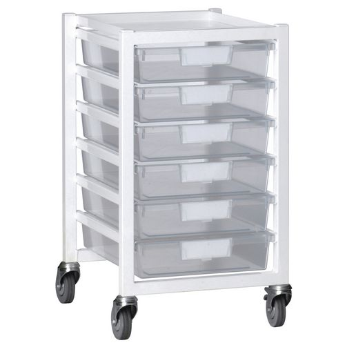 Metal Ew 6 Pink Tray Storage Unit