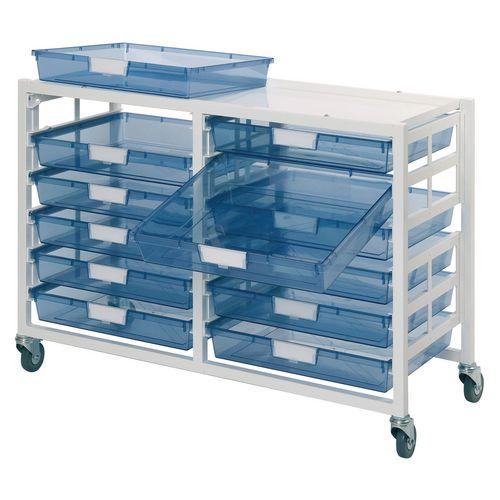 Metal Ew 12 Blue Tray Storage Unit