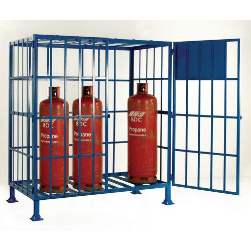 Cylinder Storage Cage Static No Shelves