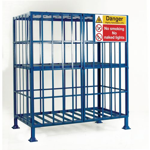 Cylinder Storage Cage Static One Shelf