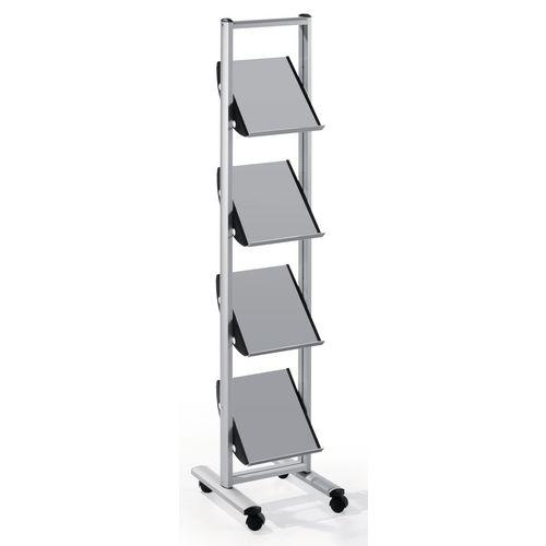 Quatro Premier Brochure Stand With Steel Shelves 4xA4