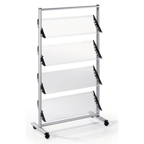 Quatro Premier Brochure Stand With Acrylic Shelves 12xA4