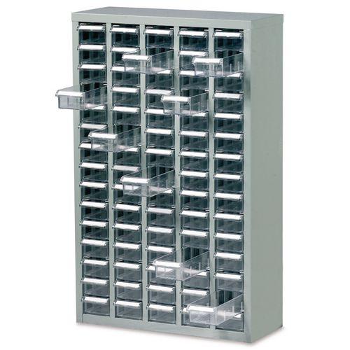 Steel Drawer Cabinet 937X586X222mm C/W 75 Bin Trays