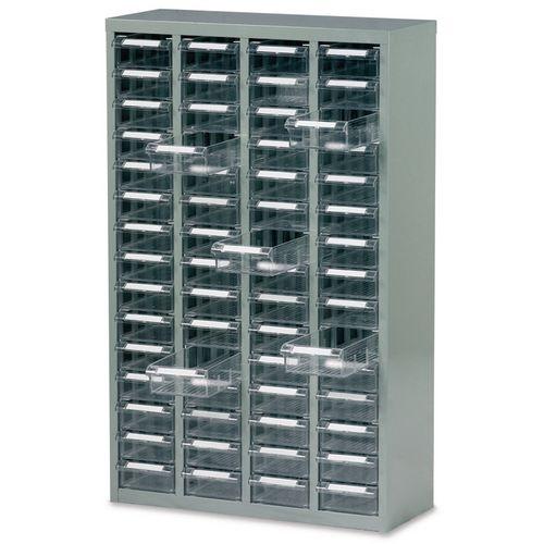 Steel Drawer Cabinet 937X586X222mm C/W 60 Bin Trays