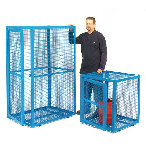 Security Cage Blue Steel 830x1400x700
