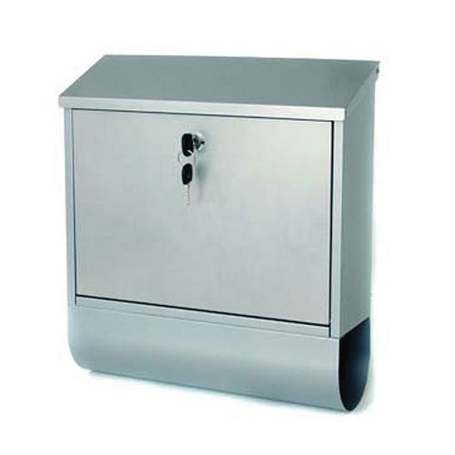 Post Box Tees Silver Steel HxWxD(mm): 410x365x110