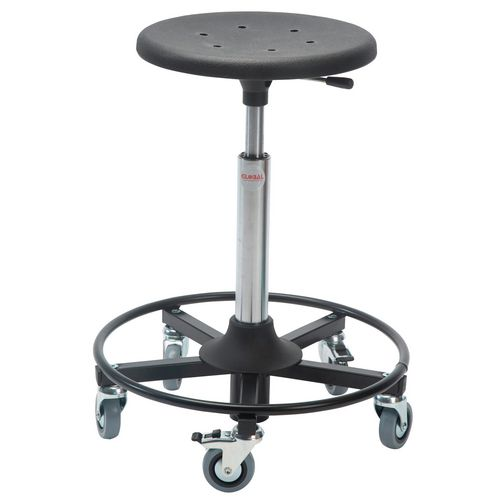 Sigma Rollerstool Steel Base Seat Height 37-50 Cm