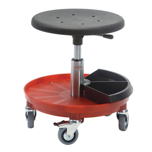 Sigma Rollerstool Nylon Base W/2 Toolboxes Seat Height 37-50 Cm