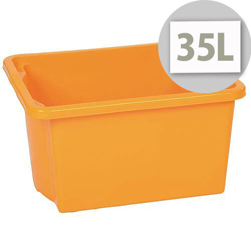 Stack &Store Box 35L Yellow - Lightweight stack and nest box - Without Lid