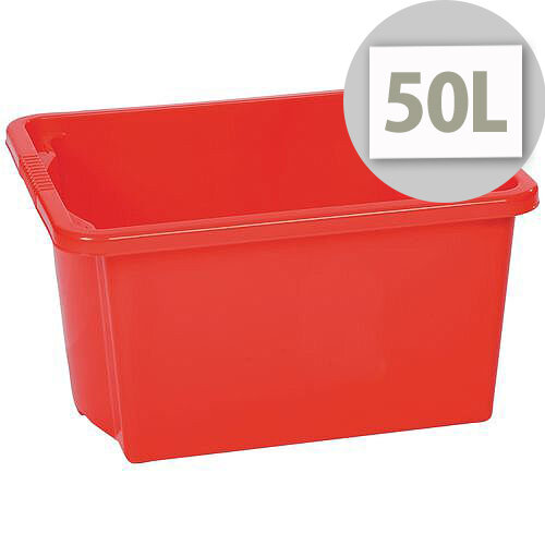 Stack &Store Box 50L Red - Lightweight stack and nest box - Without Lid