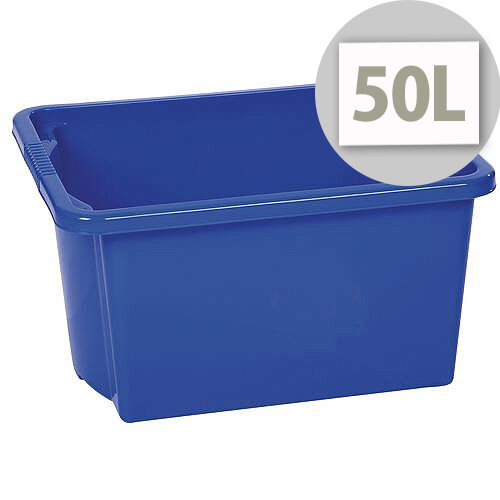 Stack &Store Box 50L Blue - Lightweight stack and nest box - Without Lid