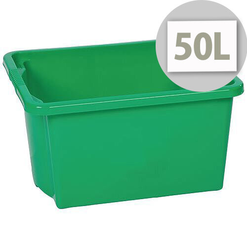 Stack &Store Box 50L Green - Lightweight stack and nest box - Without Lid
