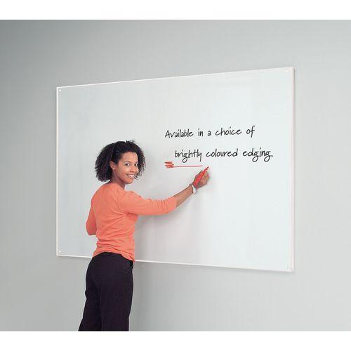 White Write-On Coloured Edged Whiteboard 620x920