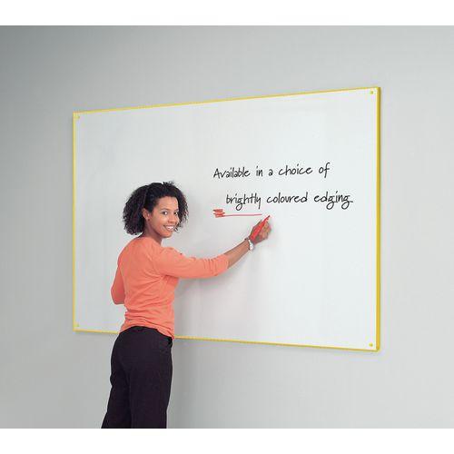 Yellow Write-On Coloured Edged Whiteboard 620x920