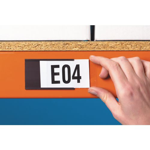 Magnetic Label Holder 80X200mm Pk 50