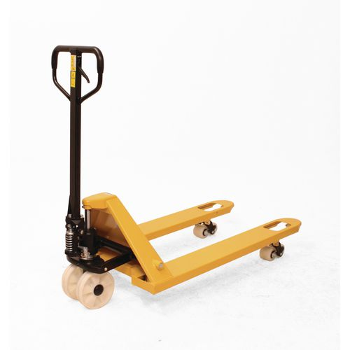 2500Kg Pallet Truck With Nylon Front Wheels &Tandem Nylon Rear Rollers
